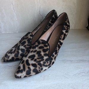 Franco Sarto leopard wedges 🐆 pointy toe 7.5
